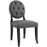 Button Dining Side Chair Upholstered Fabric Set of 2