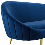 Sublime Vertical Curve Back Performance Velvet Sofa