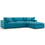 Commix Down Filled Overstuffed 4 Piece Sectional Sofa Set