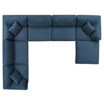 Commix Down Filled Overstuffed 7 Piece Sectional Sofa Set