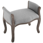 Avail Vintage French Upholstered Fabric Bench