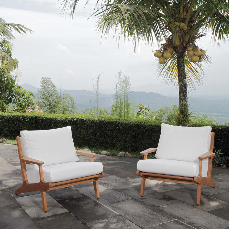 Saratoga 2 Piece Outdoor Patio Teak Set