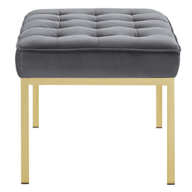 Loft Gold Stainless Steel Leg Medium Performance Velvet Bench