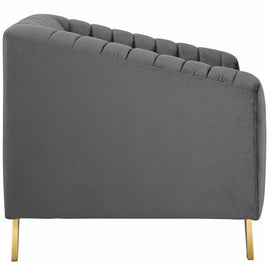Valiant Vertical Channel Tufted Performance Velvet Armchair