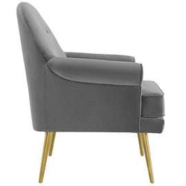 Revive Tufted Button Accent Performance Velvet Armchair