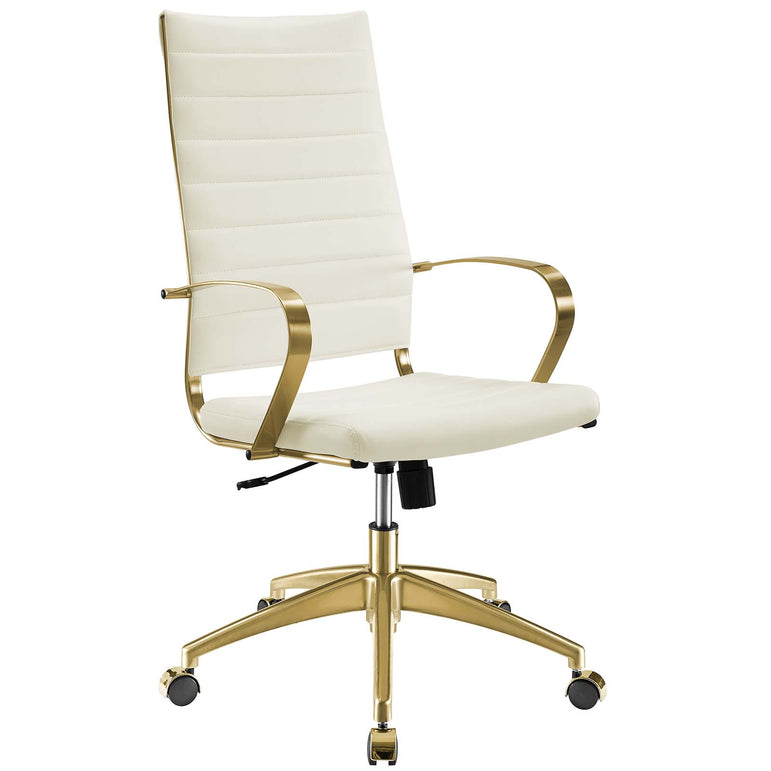 Jive Gold Stainless Steel Highback Office Chair