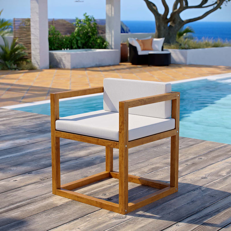 Newbury Accent Outdoor Patio Premium Grade A Teak Wood Armchair