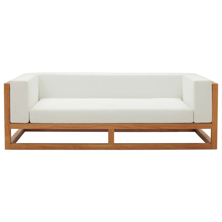 Newbury Accent Lounge Outdoor Patio Premium Grade A Teak Wood Sofa