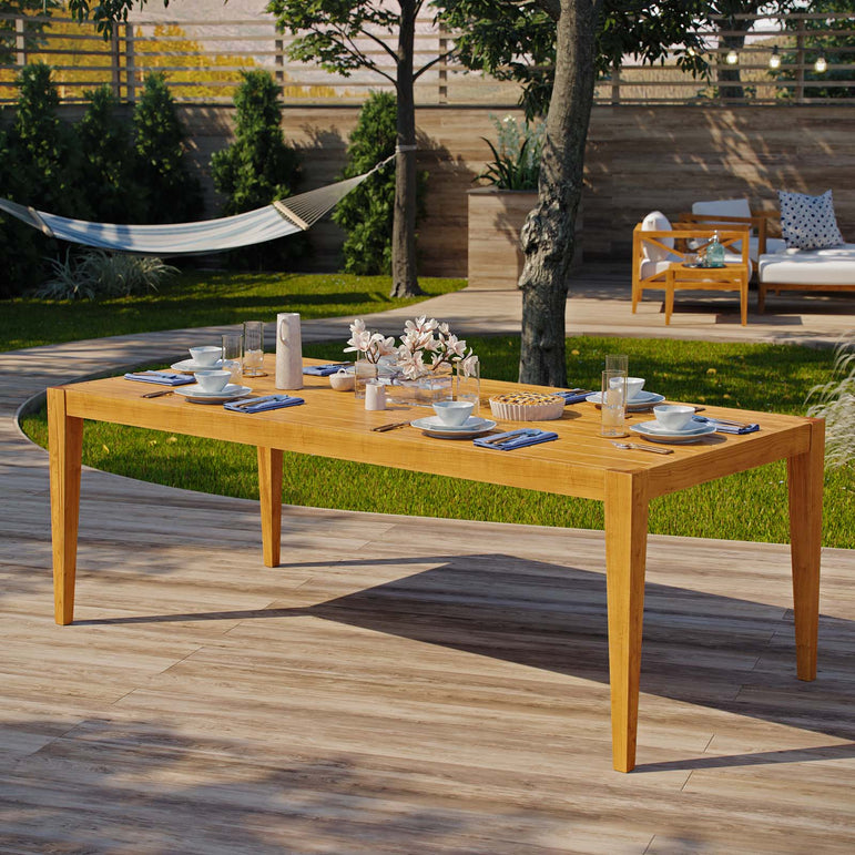 "Northlake 85"" Outdoor Patio Premium Grade A Teak Wood Dining Table"