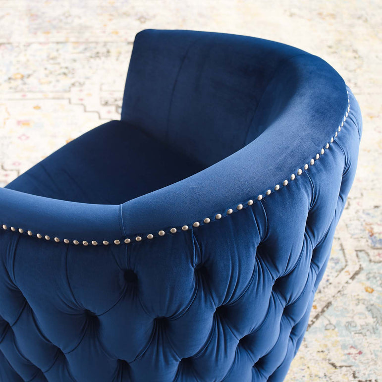 Rogue Swivel Performance Velvet Armchair