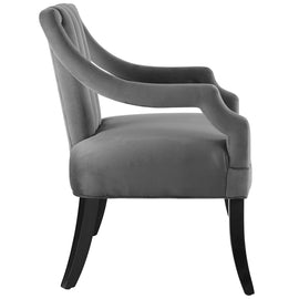 Harken Performance Velvet Accent Chair