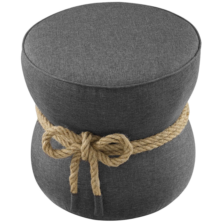 Beat Nautical Rope Upholstered Fabric Ottoman