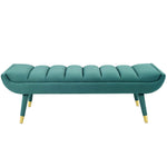Guess Channel Tufted Performance Velvet Accent Bench