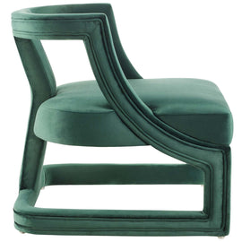 Requisite Accent Lounge Performance Velvet Armchair