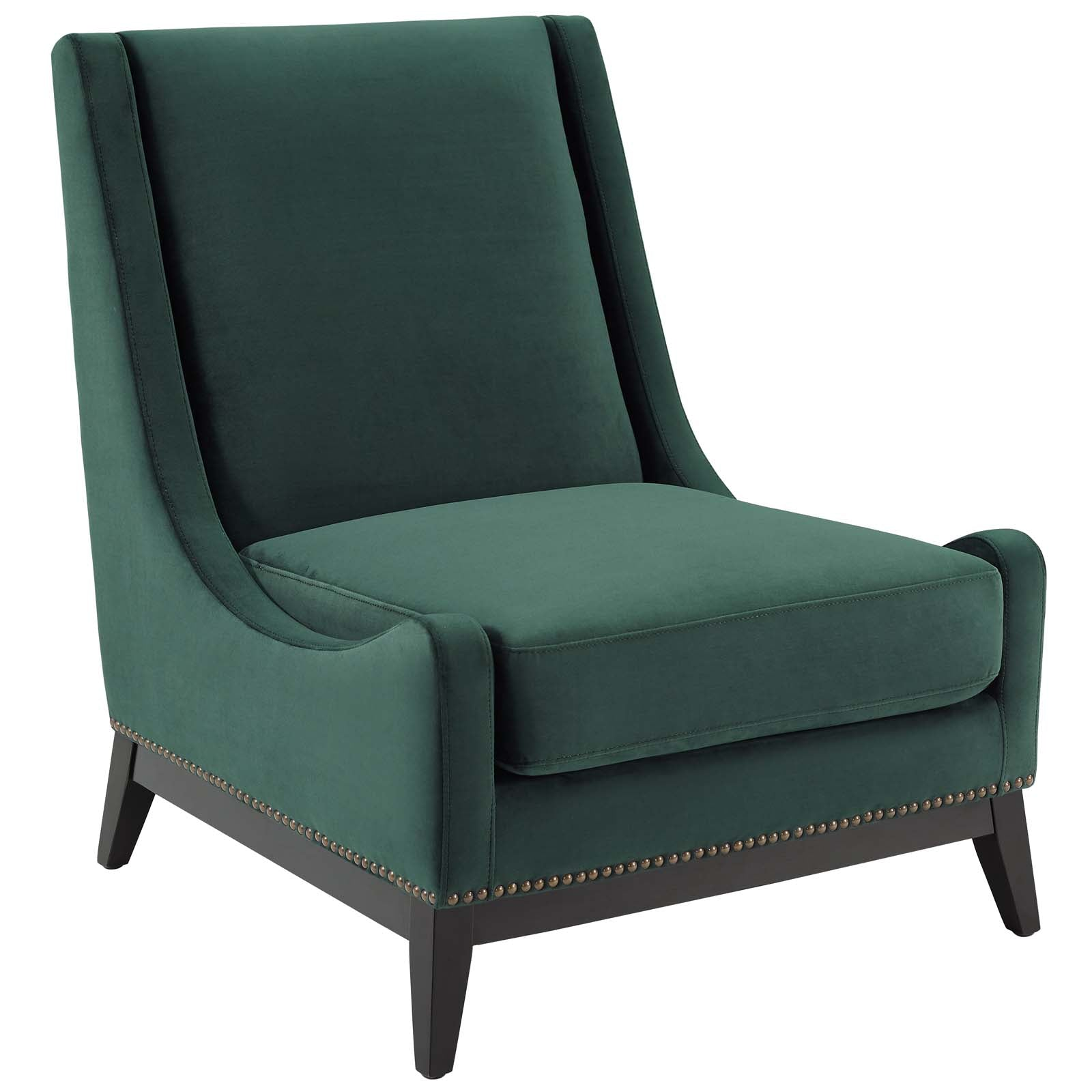 Confident Accent Upholstered Performance Velvet Lounge Chair
