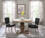"Column 47"" Round Pine Wood Dining Table"