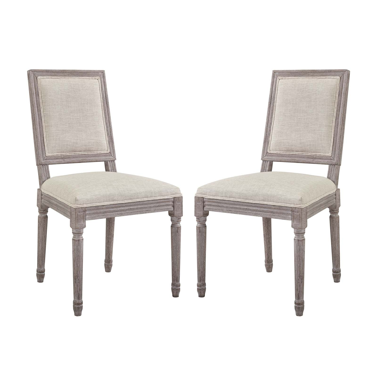 Court Dining Side Chair Upholstered Fabric Set of 2