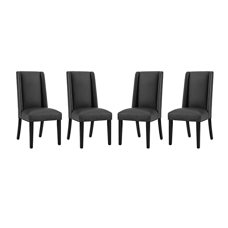 Baron Dining Chair Vinyl Set of 4