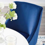 Discern Pleated Back Upholstered Performance Velvet Dining Chair