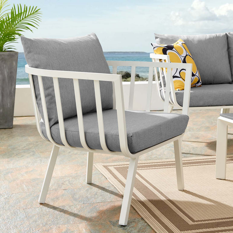 Riverside Outdoor Patio Aluminum Armchair