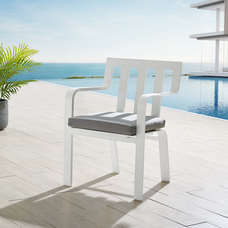 Baxley Stackable Outdoor Patio Aluminum Dining Armchair