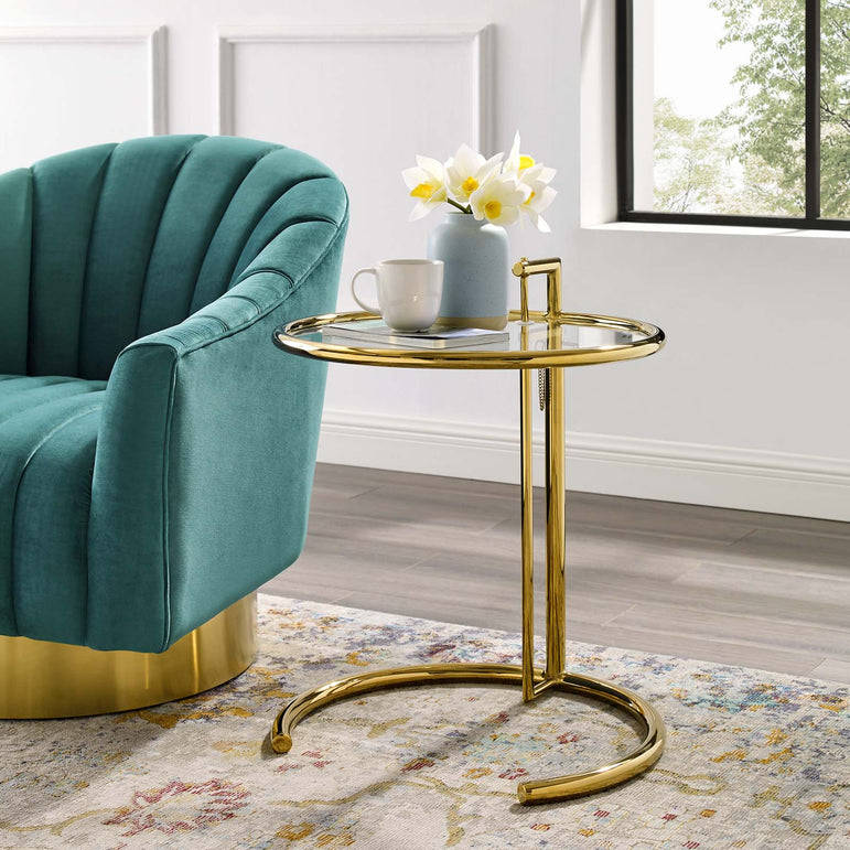 Eileen Gold Stainless Steel End Table