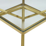 "Point 39.5"" Brushed Gold Metal Stainless Steel Coffee Table"
