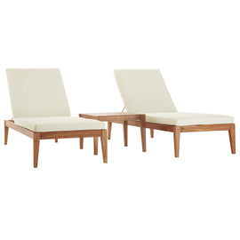 Northlake 3 Piece Outdoor Patio Premium Grade A Teak Wood Set