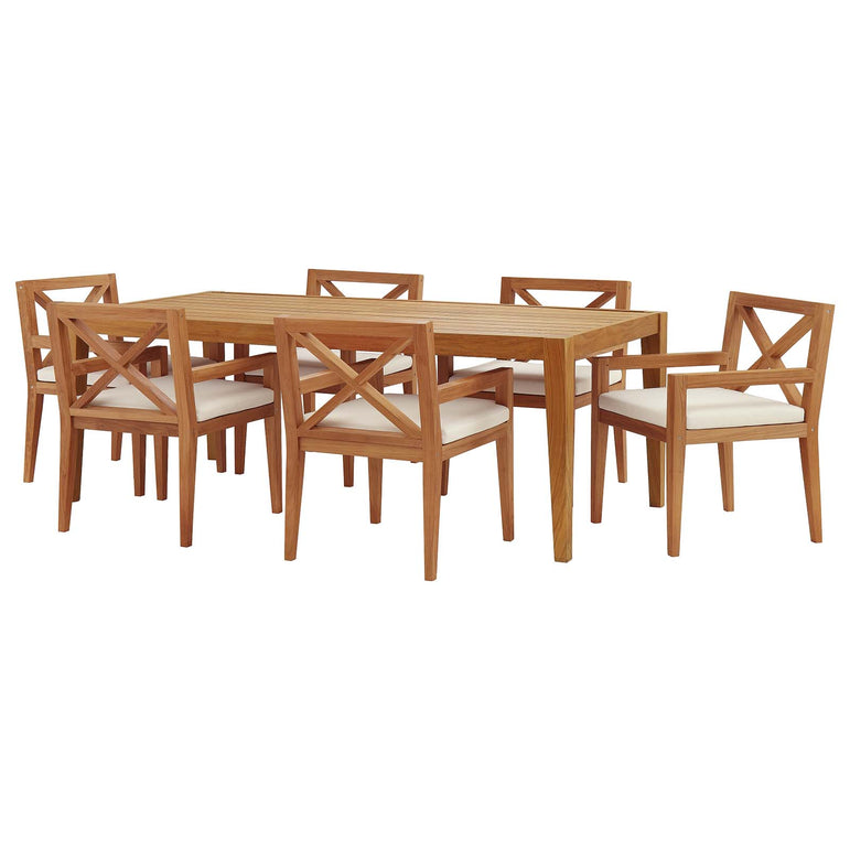 Northlake 7 Piece Outdoor Patio Premium Grade A Teak Wood Set