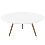 "Lippa 36"" Round Wood Top Coffee Table with Tripod Base"