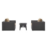 Convene 3 Piece Set Outdoor Patio with Fire Pit