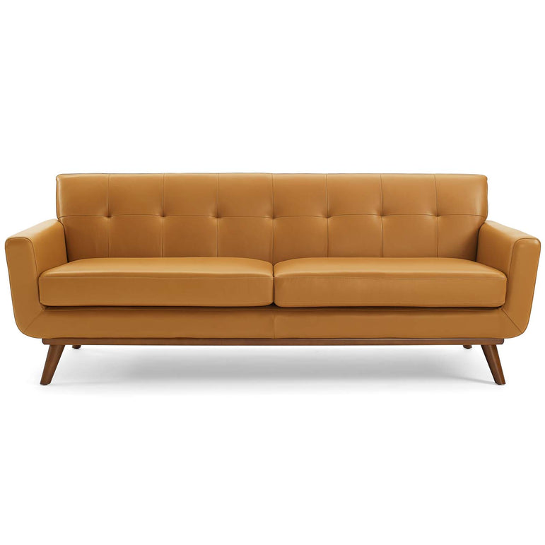 Engage Top-Grain Leather Living Room Lounge Sofa