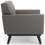 Engage Top-Grain Leather Living Room Lounge Accent Armchair