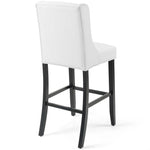 Baronet Tufted Button Faux Leather Bar Stool