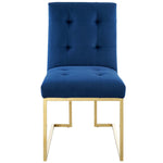 Privy Gold Stainless Steel Performance Velvet Dining Chair
