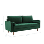 Valour Performance Velvet Sofa