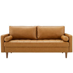 Valour Upholstered Faux Leather Sofa
