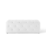"Anthem 48"" Tufted Button Entryway Faux Leather Bench"