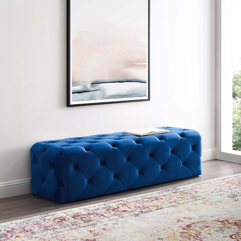"Anthem 60"" Tufted Button Entryway Performance Velvet Bench"