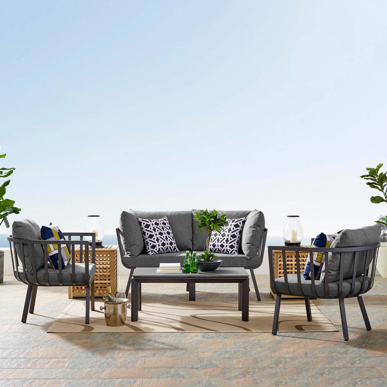 Riverside 5 Piece Outdoor Patio Aluminum Set