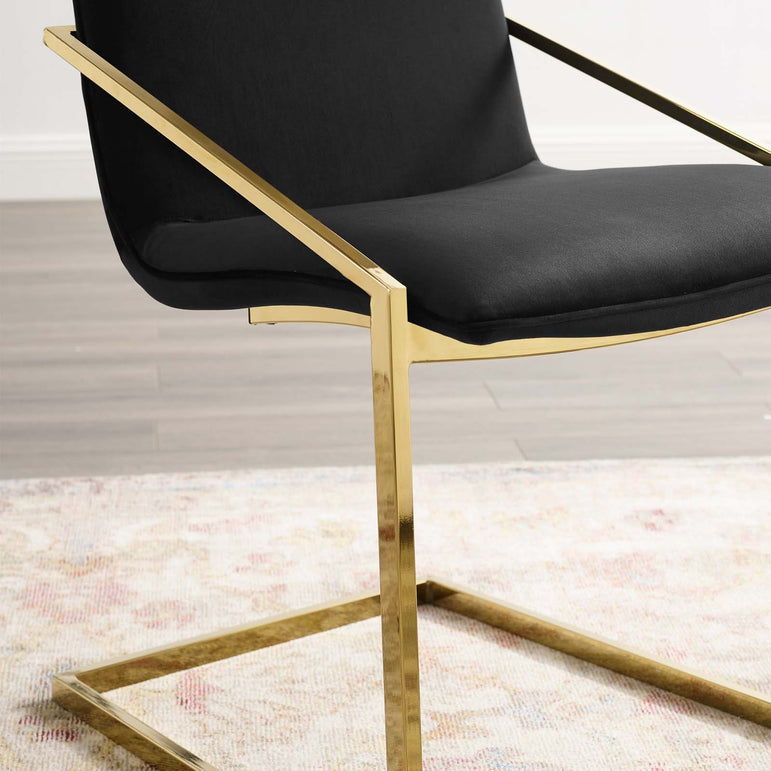 Pitch Performance Velvet Dining Armchair