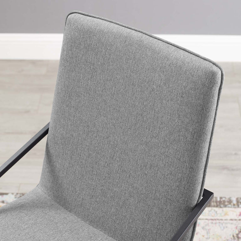 Pitch Upholstered Fabric Dining Armchair