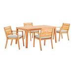 Portsmouth 5 Piece Outdoor Patio Karri Wood Dining Set