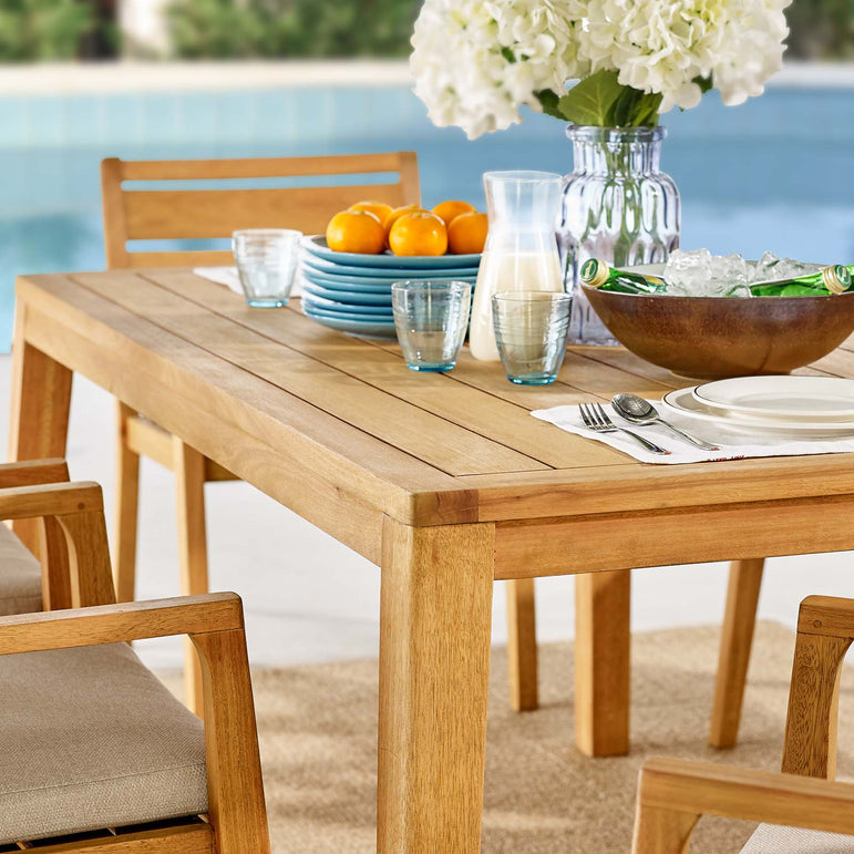 Portsmouth 7 Piece Outdoor Patio Karri Wood Dining Set