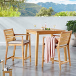 Portsmouth 3 Piece Outdoor Patio Karri Wood Bar Set