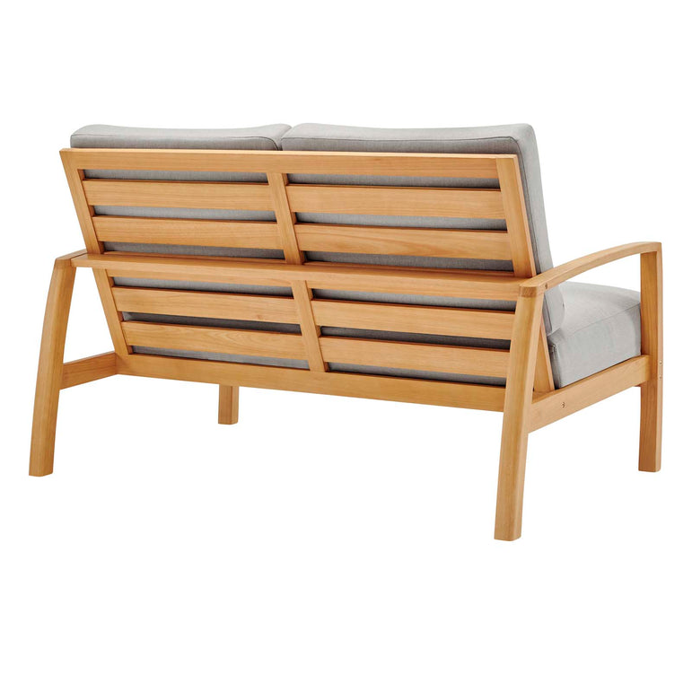 Orlean 4 Piece Outdoor Patio Eucalyptus Wood Set