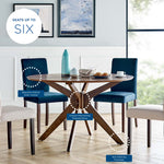 "Crossroads 47"" Round Wood Dining Table"