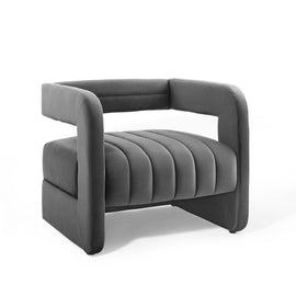 Range Tufted Performance Velvet Accent Armchair