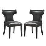 Curve Dining Chair Vinyl Set of 2