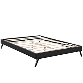 Loryn King Vinyl Bed Frame with Round Splayed Legs